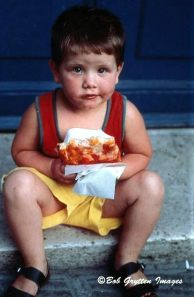 Boy with Pizza, Saorge, FR