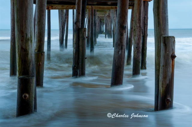 Fishing Piert, Nags Head, NC by Charles Johnson