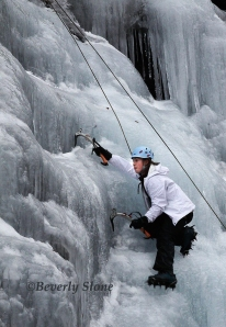 Ice Climbing Western NC by Beverly Slone