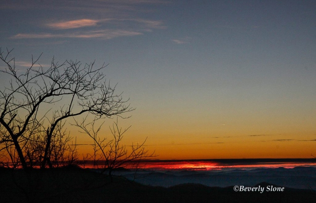Winter Daybreak, Blue Ridge Parkway by Beverly Slone