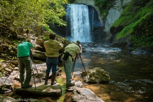 Louis Sasso, Dan Dry and Bob Grytten shoot Looking Glass Falls by Charles Johnson. No Camera settings are recorded